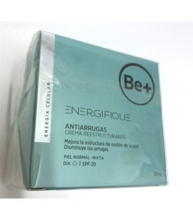 Antiarrugas crema Be+ reestructurante, piel normal y mixta spf 20, 50ml